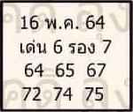 หวยลุงโชคดี 16/5/64
